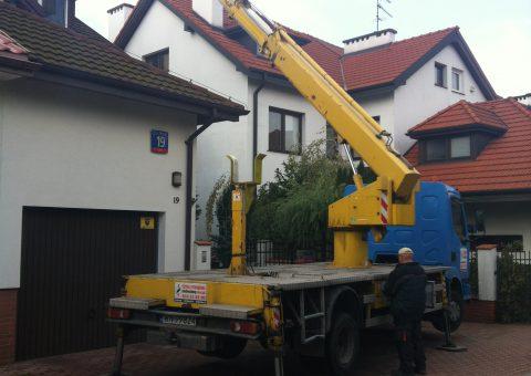 Prace dekarskie – podnośnik koszowy 23 metry