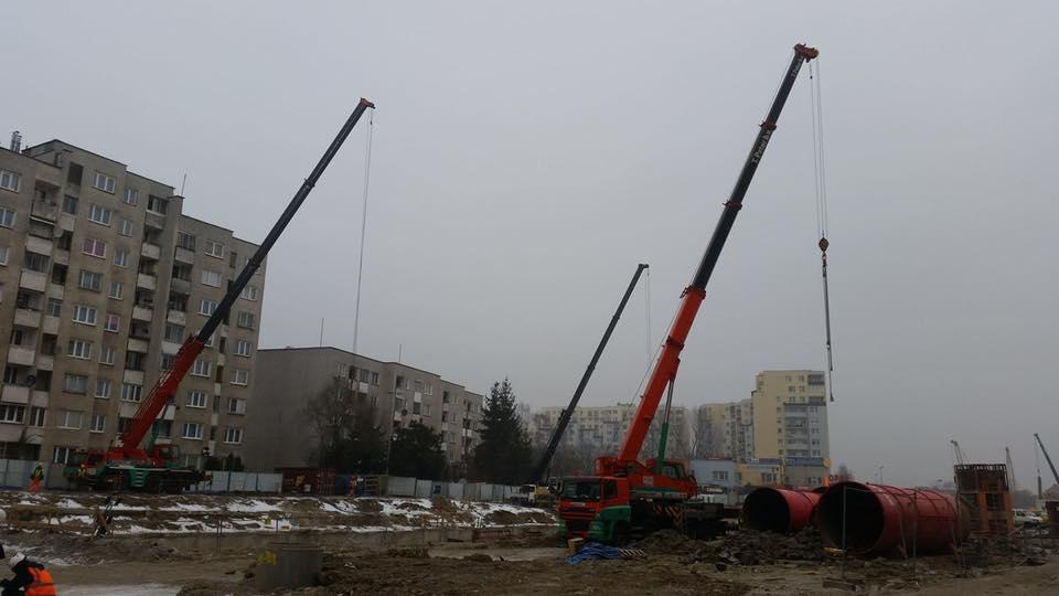 dźwigi w Warszawie