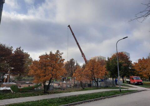 Budowa placu zabaw – Warszawa Wawrzyszew